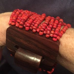 Jewelry - Boho Coral Stretch Bracelet
